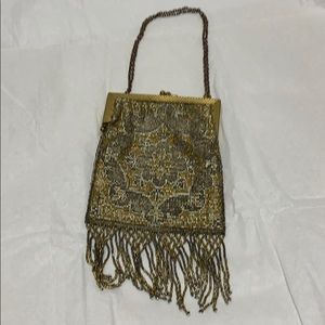 Stunning Vintage French Beaded Bag 1920's